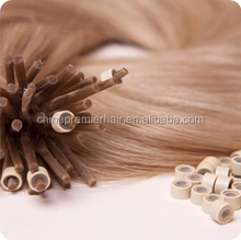 I Tip Hair Charming Glod Color Deep Wave 100PCS/LOT Authentic Virgin European Remy Human Hair