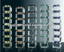 Crystal Decorative Pillars Glass Stair Pillar