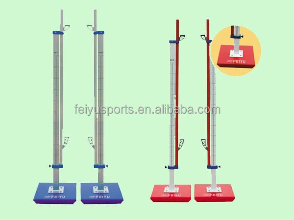Steel competition high jump stands