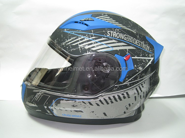 Hot selling double visors glasses full face helmet with ECE certification 829 motorcycle helmet for sale