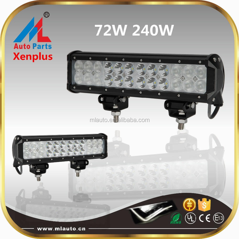 72w 4x4 led light bars 240w 12 inch 12v rigid LED light bar offroad boat jeep bar lights
