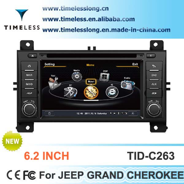 S100 Car Radio For Jeep Grand Cherokee with GPS A8 Chipset 3 zone POP 3G/wifi BT 20 dics playing