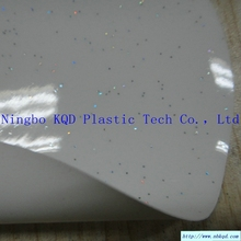 0.30mm transparent glitter pvc fim for raincoat / brand clothing / handicrafts / packaging / clips film