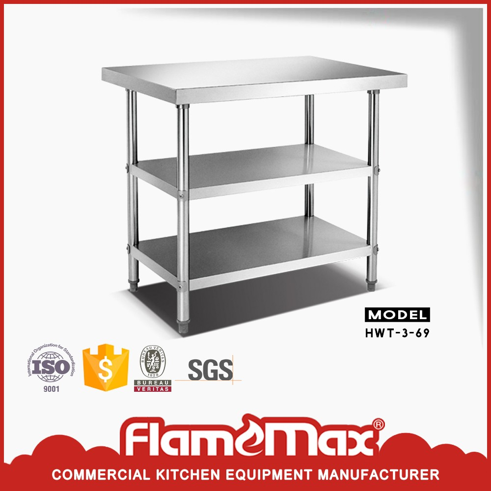 stainless steel kitchen corner catering work table base