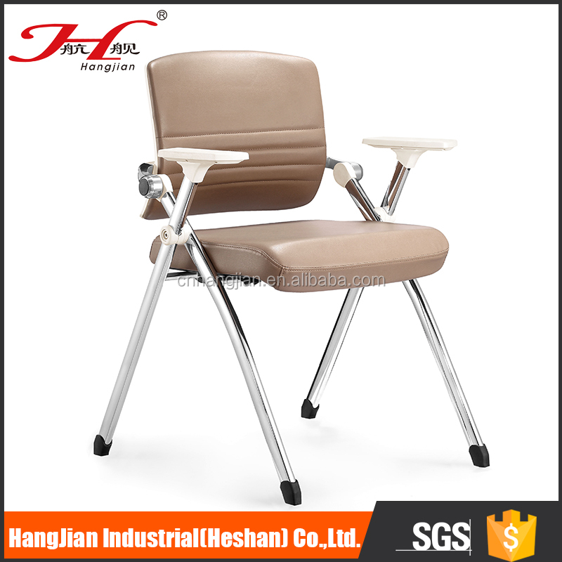 High quality long duration time four leg pu office visitor chair