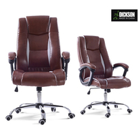 Dickson white mesh and leather realistic swing executive office boss chair