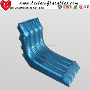 Wholesale flocking inflatable sleeping lounger S shape sofa bed