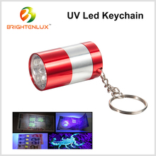 Factory Wholesale Aluminum Cheap Metal Pet Stains Detection Mini Small Pocket 6 LED Black light uv led Keychain