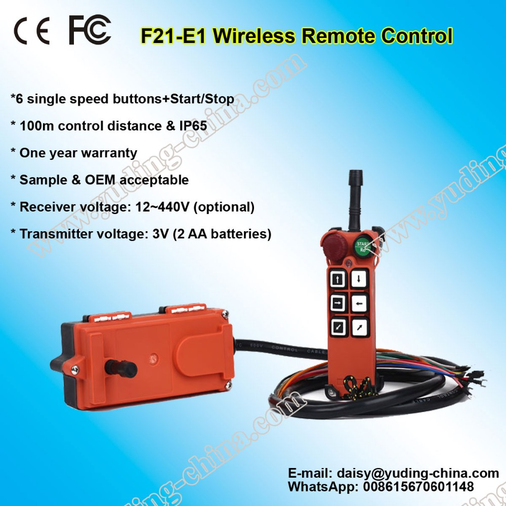 hot sell wireless crane pendant remote control F21-E1 radio remote control