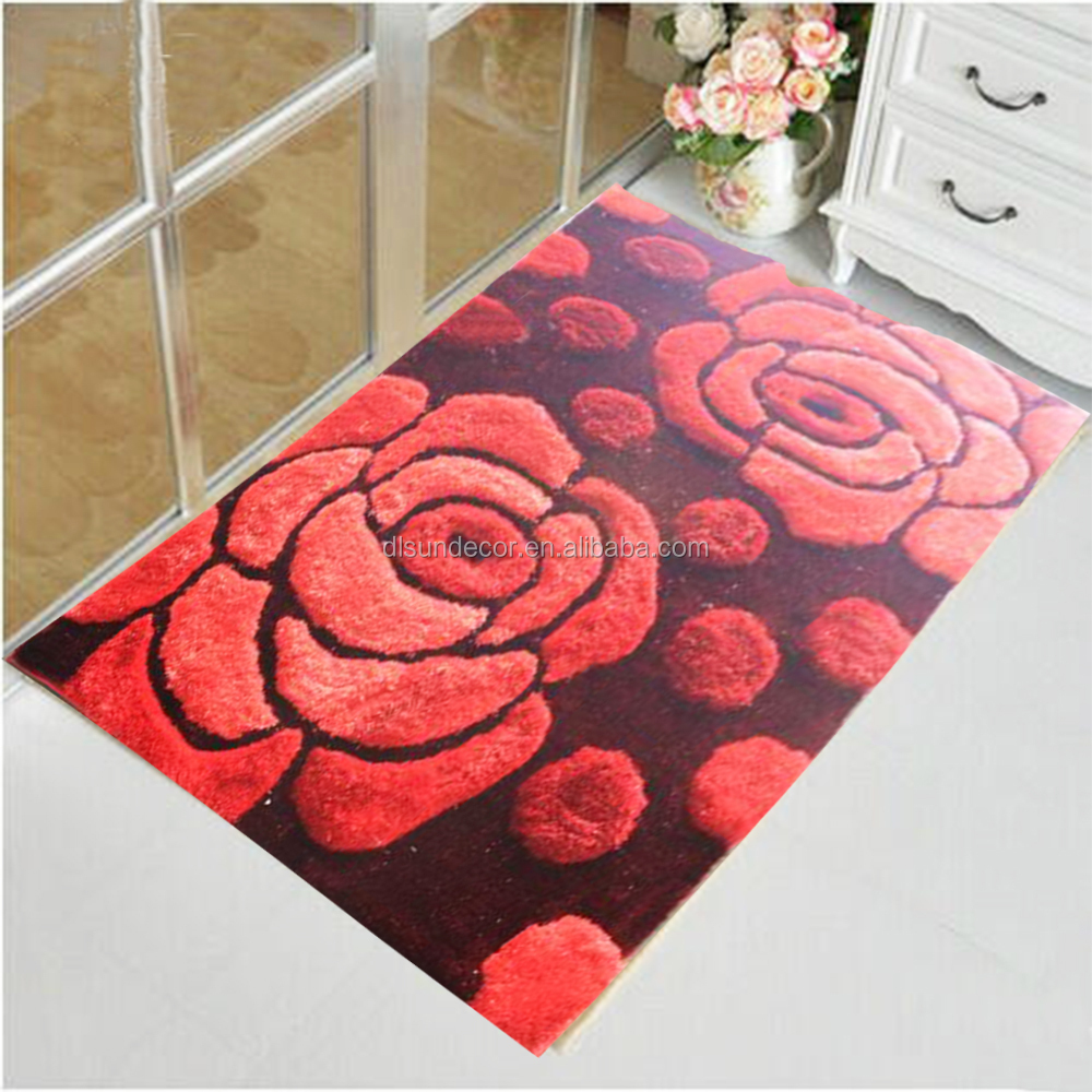 100% polyester 3d hand tufted shaggy floor carpet and rug suppliers