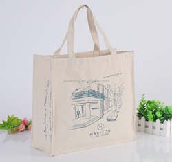 Handled canvas tote bag