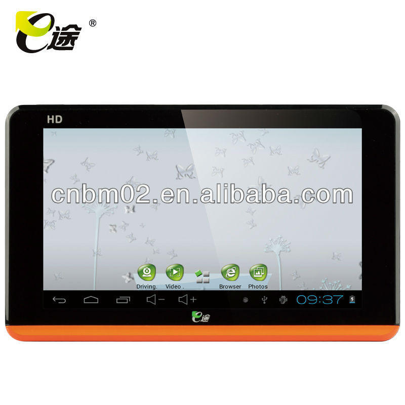 7 inch Tablet PC Android Car GPS, wireless rearview camera with bluetooth