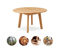 Natural Style Solid Ash Furniture Round Wood Kitchen Table For 4