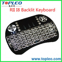 Wholesale-2.4Ghz Rii mini i8 Backlit gaming Keyboard Wireless Keyboard with TouchPad mouse