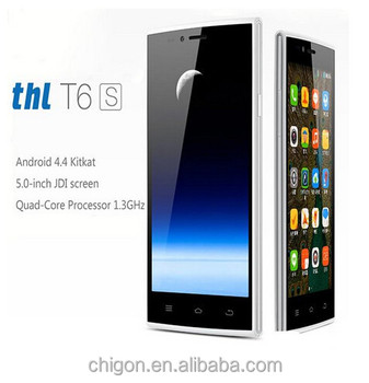 "New arrival Original THL T6S Cell Phones MTK6582M Quad Core Android 4.4 Smartphone 5.0"" IPS 1GB RAM 8GB ROM GPS OTA 5.0MP Mobile"