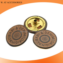 Custom Printed Snap Buttons Four Parts Snap Button With Custom Logo