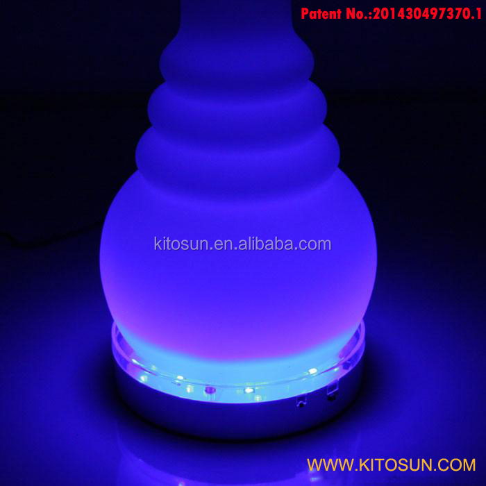 Perfect Design !!! Smooking Shisha Hookah 6inch Multicolors LED Light Base