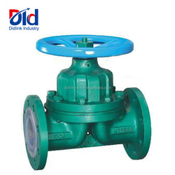 Electric Spear Solenoid Weir Pn10 Pn16 Rubber Lined Manufacture Ptfe Diaphragm Valve Manufacturer