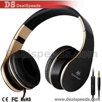 Popular Sound Intone i60 with 3.5mm Jack Portable Flow-down Headphone Wired Headset for Smart Phone & Notebook (Black)