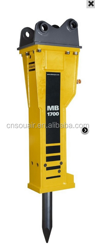 Atlas Copco MB Hydraulic Breakers for carriers from 19 up to 32 t weight MB1700