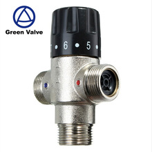 Green-GutenTop Brand New 3 way Brass 3/4 Inch DN20 Solar Water Heater Thermostatic Mixing Valve