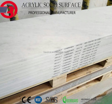 White moon cream 2440mm interior artificial decking stone for houses