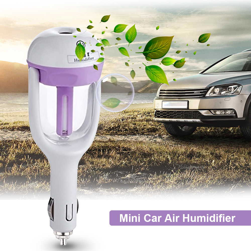 Portable Mini Car Humidifier Ultrasonic Aroma Diffuser Humidifier Air Purifier Mist Maker for Car