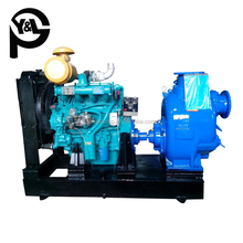 diesel engine driven water pumping machine used for farm irrigation system