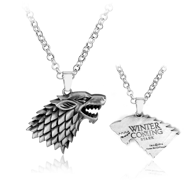 2017 Game of thrones Wolf logo Jewelry House Stark Necklace Song Of Ice And Fire Souvenir Pendant Gift