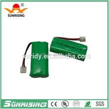 2.4v aaa ni-mh battery pack 600mah with OEM