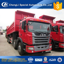 jac 12 wheel 25 cbm 40 ton front dump hyva cylinder tipper truck for hot sale