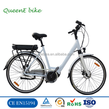 2017 new Middle motor Electric City Bicycle with Bafang motor e Bike (TDF05Z)