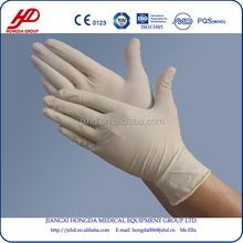 Sterile latex surgical glove for single use