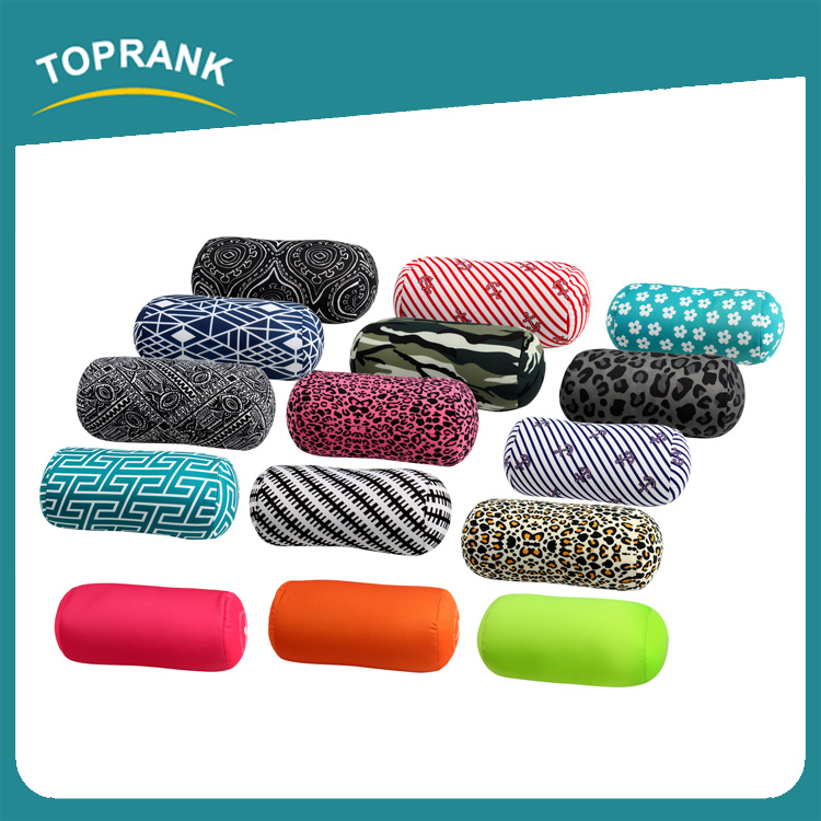 Toprank Comfort Mini Round Microbead Roll Travel Pillow Back Support Bolster Pillow Long Round Tube Bolster Pillow