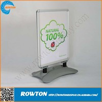 Outdoor silver A board water base banner stand pavement sign with spring