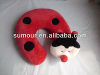Plush Animal Neck Pillow Ladybug