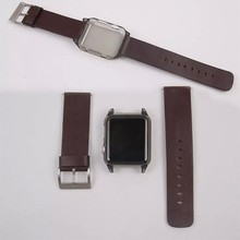 For Apple Watch Protective Case Cover + leather watch band
