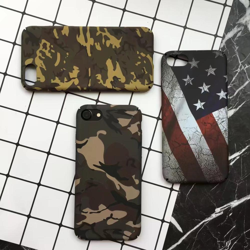 Wholesale Soft camouflage US Flag phone cases for iPhone 7, 7 Plusarmy phone cases