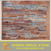 blue yellow Natural culture Stone Rusty slate wall tiles
