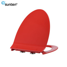 Bathroom Product Red Elongater V Shape Toilet Seat Covers
