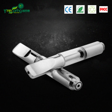 2016 new products wholesale metal mouthpiece glass tank ceramic coil disposable e cigarette cbd oil vaporizer cartridge