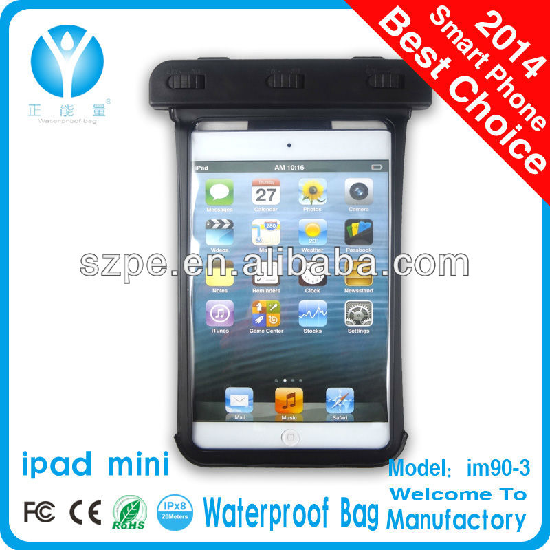 High quality waterproof bag for iPad/iPad 2 with waterproof seal clip