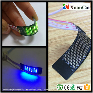 Screen size: 27x10mm/ PCB size: 46x14mm 8x18 LED points smallest possible solution Flexible/Soft LED message PCB board