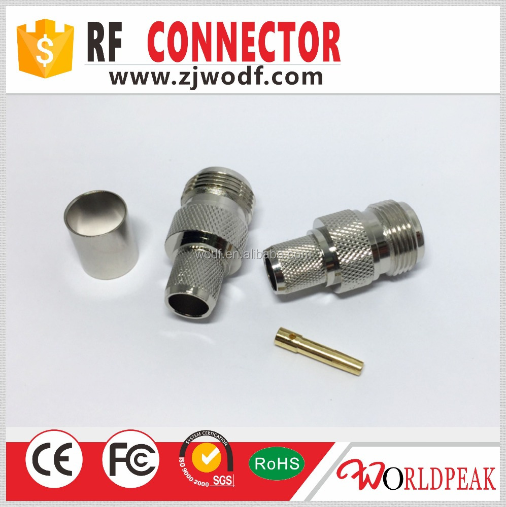 rf n female type crimp connector for lmr400 cable