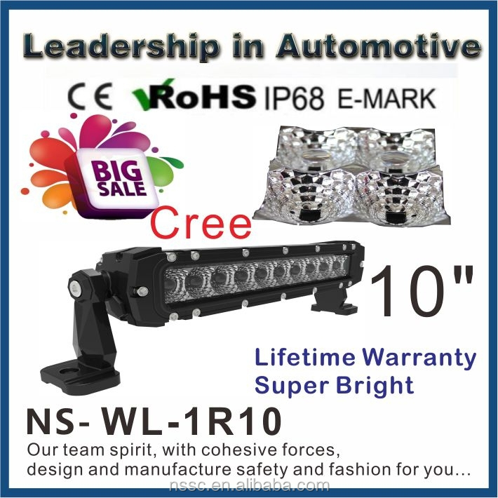 wholesale!!!10inch 50w single row cree off road led light bar IP68 waterproof,for 4x4 car accessory,SUV,ATV,truck,UTV