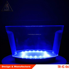 LED ICE BUCKET Colour Changing Champagne Wine Drinks Cooler Retro For Weddings Clubs Bars Table Xmas Parties