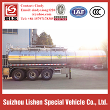 Tri-axle Stainless Steel Insulated Chemical Liquid Tank Semi Trailer