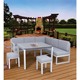 5-piece all aluminum outdoor patio sofa garden furniture corner sofa metal patio furniture