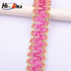 width:30mm.elastic sequins trimming with 6mm Flat China supplier