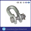 VIC Pole Line Fittings Electric Power Line Link Fitting Adjustable Shackle Galvanized Steel Anchor Shackle U shackle